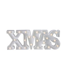 "18.5"" Battery Operated LED Lighted ""XMAS"" Christmas Marquee Sign"