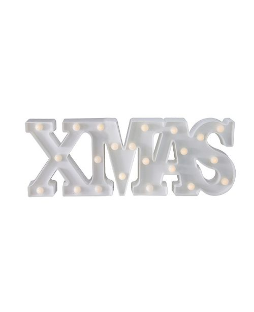 """Northlight 18.5"""" Battery Operated LED Lighted """"XMAS"""" Christmas Marquee Sign"""