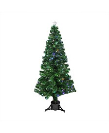 Pre-Lit Led Color Changing Fiber Optic Christmas Tree with Star Tree Topper