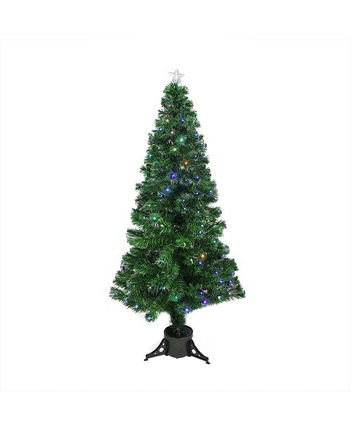 Northlight Pre-Lit Led Color Changing Fiber Optic Christmas Tree with Star Tree Topper
