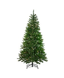 7' Pre-Lit Vail Spruce Medium Artificial Christmas Tree - Clear Lights