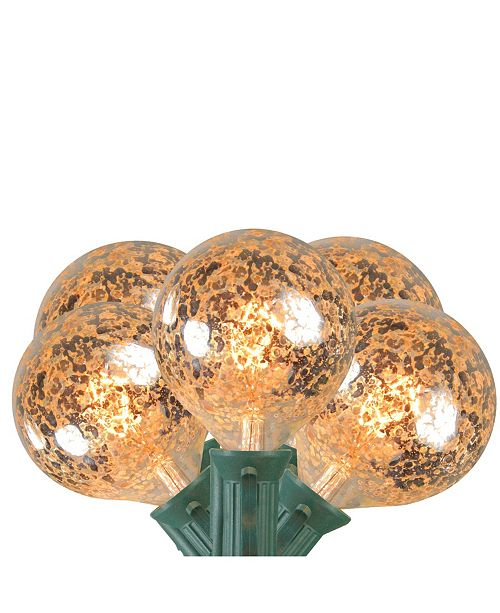 Northlight 10 Clear Mercury Glass G50 Globe Christmas Lights - 9 ft Green Wire