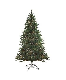 7' Pre-Lit Balsam Pine Artificial Christmas Tree - Clear Lights