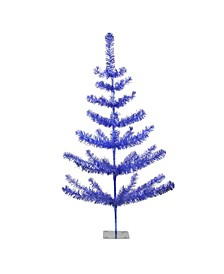 3' Blue Tinsel Pine Artificial Christmas Twig Tree - Unlit