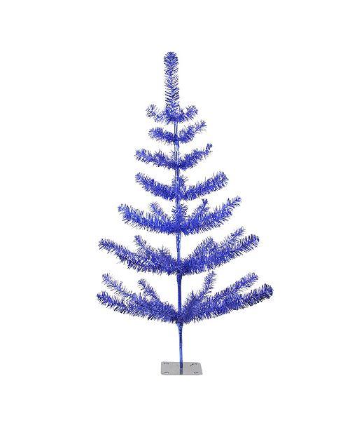Northlight 3' Blue Tinsel Pine Artificial Christmas Twig Tree - Unlit