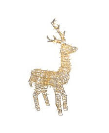 "48"" LED Lighted Upright Standing Reindeer Outdoor Christmas Decoration"