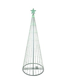 9' Green LED Lighted Show Cone Christmas Tree Oudoor Decoration