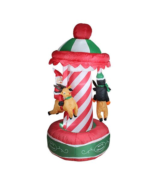 Northlight Animated Christmas Carousel Lighted Yard Art Decoration