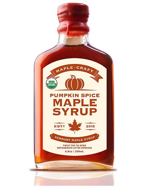 Maple Craft Foods Pumpkin Spice Vermont Maple Syrup Organic