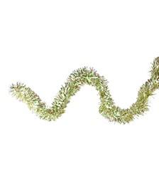 12' Starburst Iridescent and Gold Christmas Tinsel Garland - Unlit