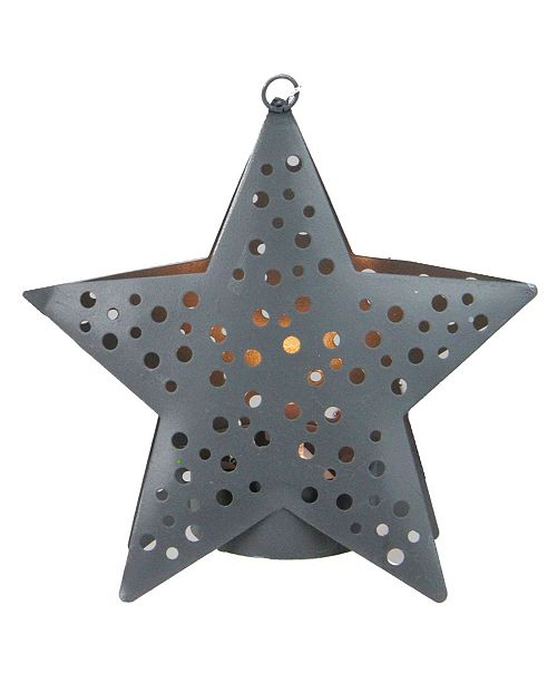 """Northlight 4.5"""" Gray Petite Star Lighted Cut Out Christmas Ornament"""