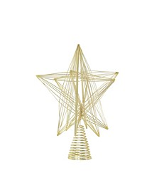 Gold-Tone 3D Geometric Star Christmas Tree Topper