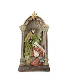 "14.5"" Holy Family and Angel Figures Christmas Nativity Statue Decor"