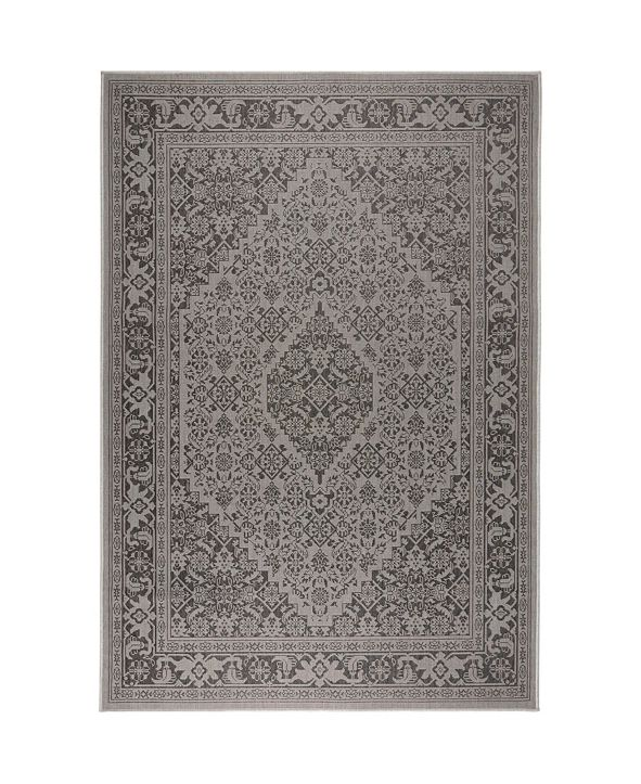 Nicole Miller  Patio Country Dahlia Gray Area Rug Collection