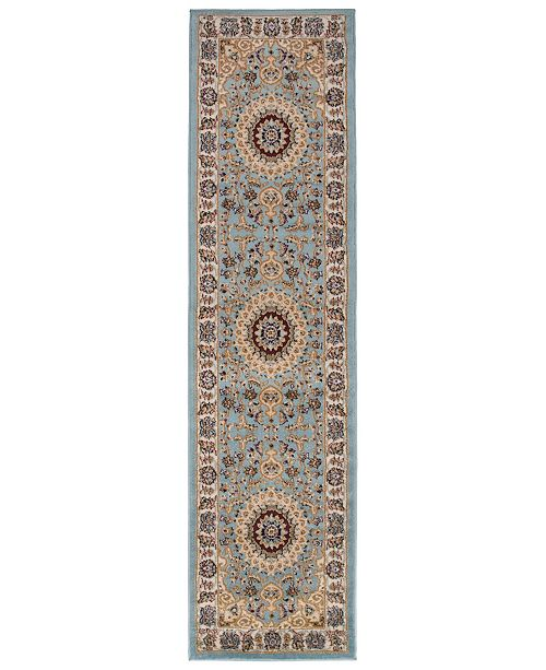 "Main Street Rugs Home Montane Mon101 Blue 2' x 7'2"" Runner Rug"