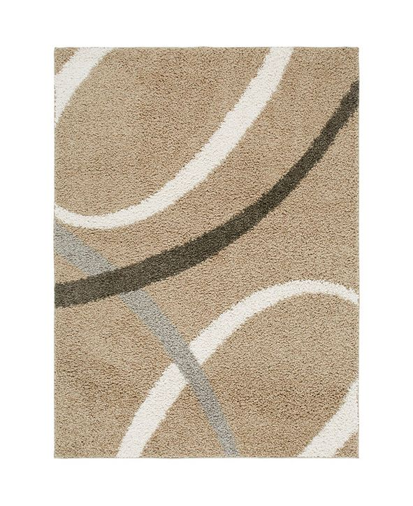 Nicole Miller  Synergy Quill Shag Beige Area Rug Collection