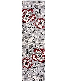 "Home Haven Hav9098 Red 2' x 7'2"" Runner Rug"
