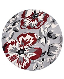 """Home Haven Hav9098 Red 6'6"""" Round Area Rug"""