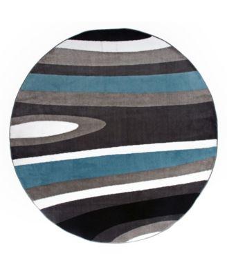 """Montane Mon110 Blue 6'6"""" Round Area Rug"""