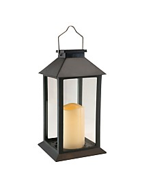 Lumabase Solar Powered Lantern with LED Candle