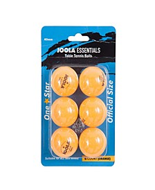 Essentials Table Tennis Balls White, 6 Count