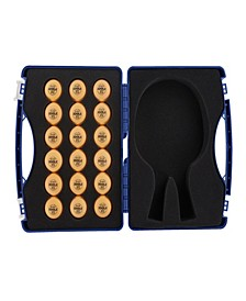 Tour Case with 40Mm, 3-Star Competition Table Tennis Balls Includes 18 Balls