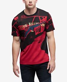 True Religion Men's Foil Engineered Print T-Shirt
