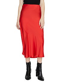 Everyday Solid Midi Skirt