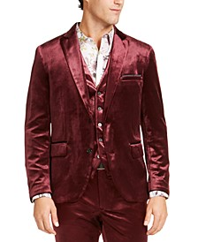 I.N.C. Men's Big & Tall Slim-Fit Shiny Velvet Blazer, Created For Macy's