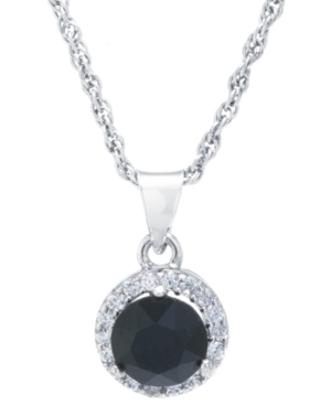 """Crystal Round Halo Pendant With 18"""" Chain in Sterling Silver. Available in Clear"""