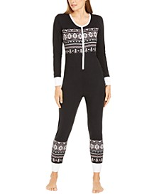 Printed Thermal One Piece Pajama, Created For Macy's