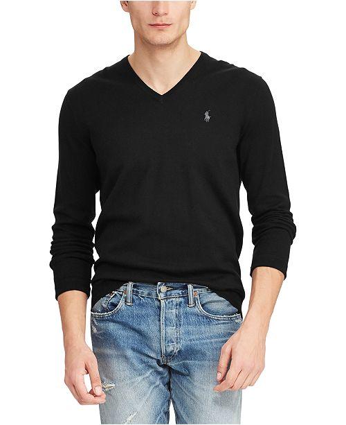 Polo Ralph Lauren Men's Big & Tall Long Sleeve Cotton Sweater