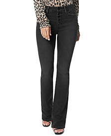 Hi Honey Button-Fly Bootcut Jeans