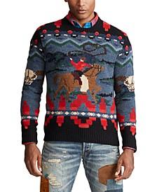 폴로 랄프로렌 Polo Ralph Lauren Mens Cowboy Hand-Knit Wool Cashmere Sweater,Multi