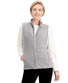 Karen Scott Zip-Up Zeroproof Fleece Vest, Created for Macy's