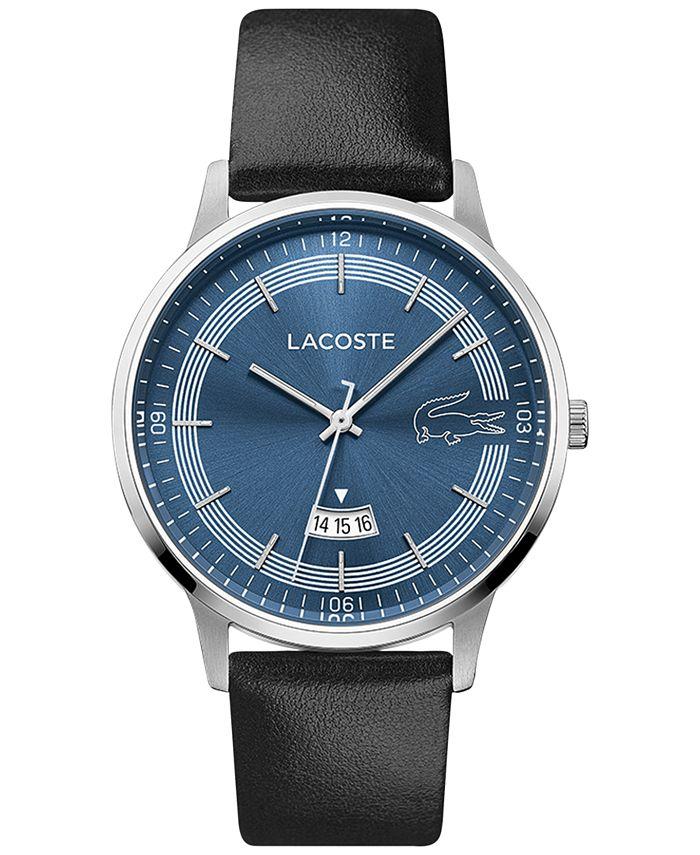 Lacoste - Men's Madrid Black Leather Strap Watch 41mm