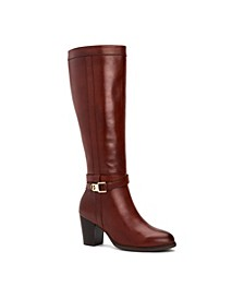 Rozario Memory-Foam Wide-Calf Dress Boots, Created for Macy's