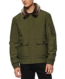 Men's Kingshill Aviator Bomber with Faux Fur Collar