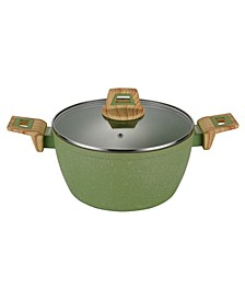 Round Casserole Pan with Glass Lid 9.5""