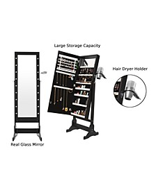 Glam Marquee Lights Jewelry Armoire Cheval Mirror