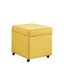 Harrison Upholstered Storage Cube Ottoman