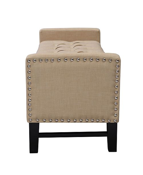 INSPIRED HOME Columbus Button Tufted Storage Bench With