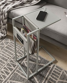 Loft Lyfe Kalina End C-Table with USB Charging Ports and Outlets