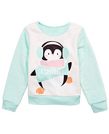 Little Girls Chill Penguin Sweatshirt
