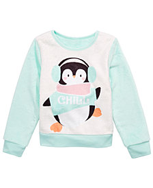 Evy of California Toddler Girls Chill Penguin Sweatshirt