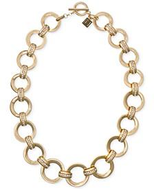 "Gold-Tone Pavé Link 20"" Collar Necklace"