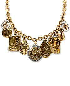 """Two-Tone Travel Charm 20"""" Strand Necklace"""