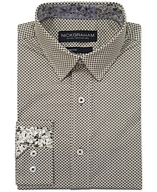 Men's Modern-Fit Asterisk Grid Shirt