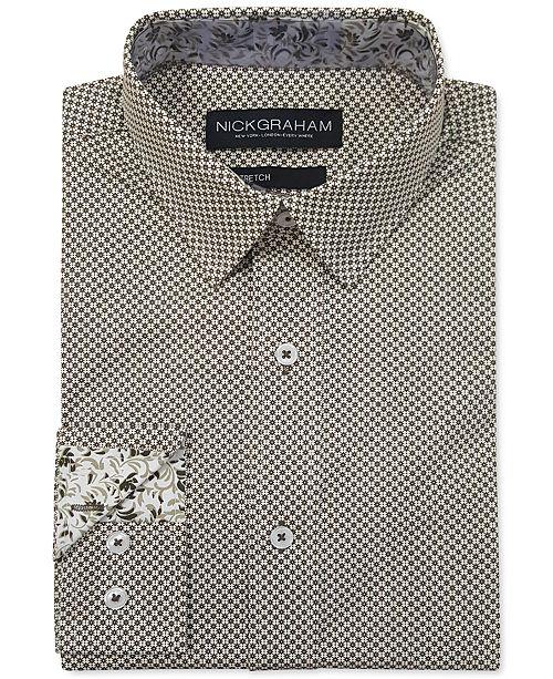 Nick Graham Men's Modern-Fit Asterisk Grid Shirt