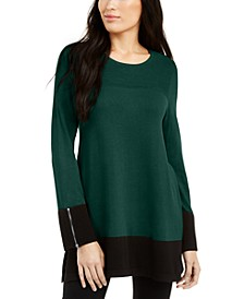 Ottoman-Knit Tunic Sweater, Created For Macy's